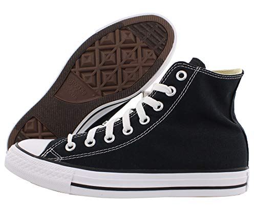 Converse Chuck Taylor All Star Ox Hi Shoe Size 10 Women/8 Men, Color: Black Canvas/White