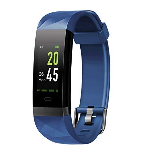 Letsfit Fitness Armband Farbbildschirm mit Pulsmesser, Fitness Tracker IP68 Wasserdicht 0,96 Zoll Aktivitätstracker Schrittzähler Pulsuhren Smart Watch für Herren Damen MEHRWEG