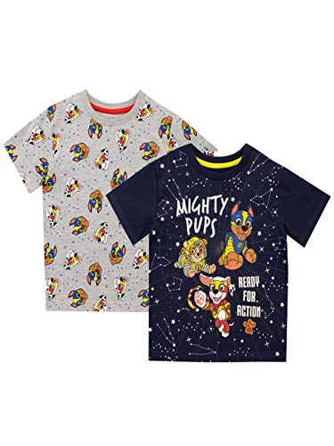 Paw Patrol Camiseta de Manga Corta Paquete de 2 para niños