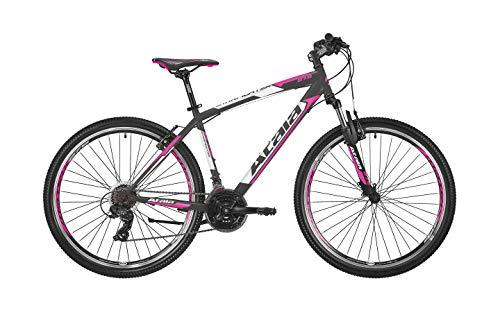 Atala - Bicicleta de montaña Starfighter modelo Lady 2020 de 27,5 pulgadas, 21 velocidades, talla S de 16 pulgadas (hasta 160 cm), color negro y fucsia
