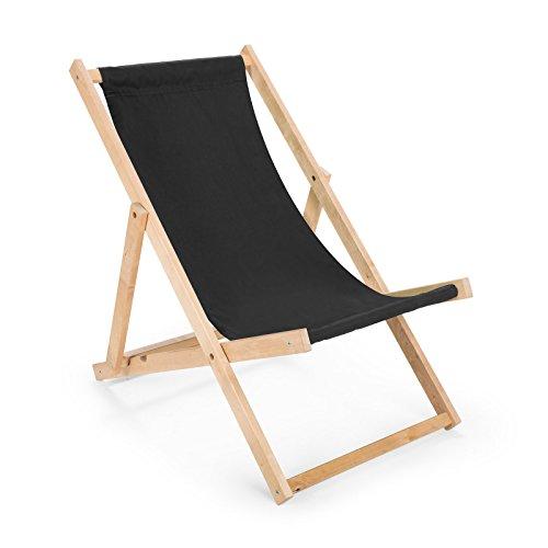 Transat en bois - Chaise de plage - Chaise longue en bois - Chaise de jardin N/10