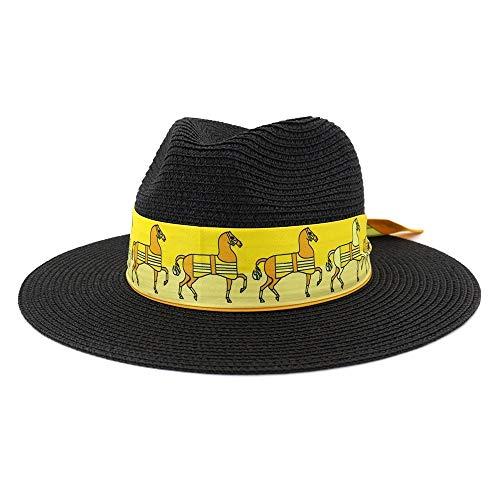 XIEWEICHAO Cinta ancha Edge sombrero de la playa al aire libre de...