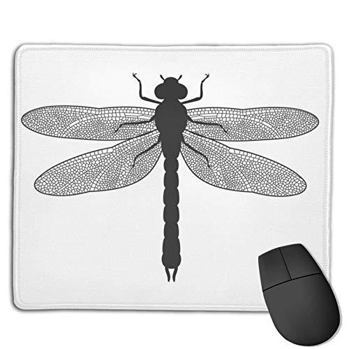 Dragoy animal moderno negro y blanco diseños personalizados antideslizante base de goma almohadillas de ratón para juegos, PC, C.