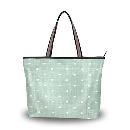 HMZXZ Bolsos y monedero de lunares geométricos abstractos para las mujeres bolso de mano de gran capacidad asa superior bolsa de hombro Shopper, color Multicolor, talla Large