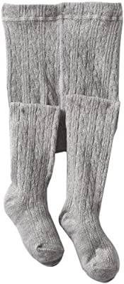 Jefferies Socks Little Girls' Cable Tight, Grey Heather, 6-8 Years from Jefferies Socks Children's Apparel
