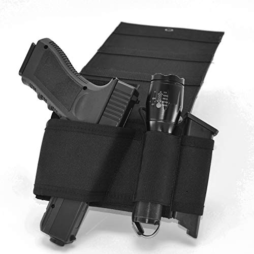 GEEDUD Bedside Holster, Bed Gun Holster for Pistols with Light, Fits for Glock,Beretta,Ruger,Compact Pistols Etc