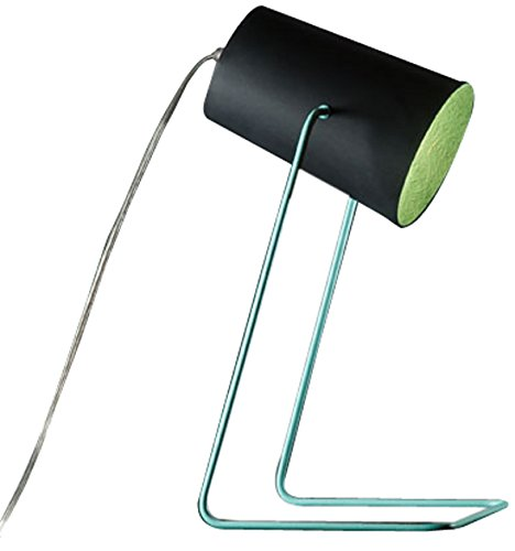 In-es.artdesign IN-ES060014N-T Paint T Lavagna Lampe de Table Noir/Turquoise
