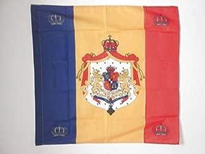 AZ FLAG Royal Standard of Romania 1881-1946 Flag 3' x 3' for a Pole - Romanian Kingdom Flags 90 x 90 cm - Banner 3x3 ft with Hole
