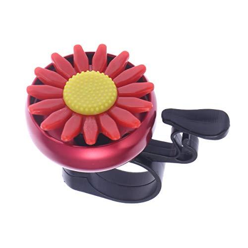 VORCOOL Sunflower Shaped Kinder Kinder Fahrrad Radfahren Glocke Lenker Ring Ringer Horn (rot)