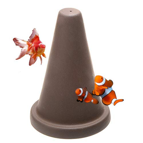 Saim Fish Breeding Cone Cave Spawning Slates for Aquarium Landscape Decoration Fish Tank Ornament, 6 Inches Tall