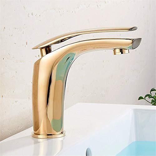 Modern wastafel oppervlak wastafels met gouden wastafel, hoge badkamer meubels, mengen klep voor warm en koud water B A