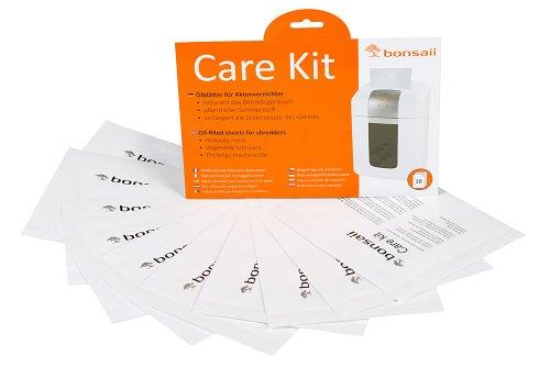 Bonsaii Pflegekit (Ölblätter / Ölpapier und Cleaning-Kit für Aktenvernichter, geeignet für sämtliche Schnittarten, Geräte, Hersteller) 10er Pack