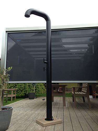 Model Pipe Black solardusche, Edelstahl, 22 Liter, gartendusche pooldusche außenendusche