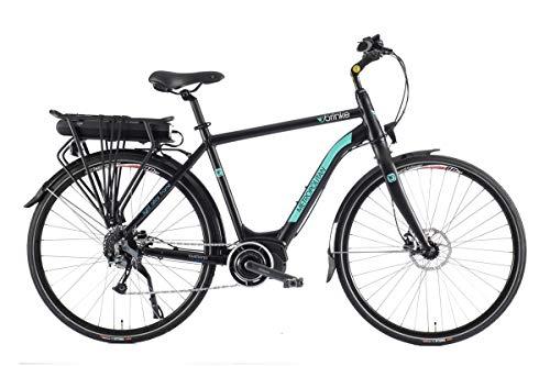 Brinke Bicicleta eléctrica Metropolitan (Negro, M)