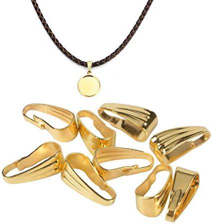 GBSTORE 100 Pcs 3 x 7 mm Bracelet Necklace Pendant Clasps Pinch Clips Bail Pendants Connectors product image