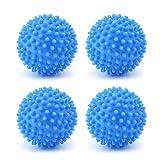 4 bolas de secadora reutilizables para secadora de ropa, bolas de lavado y secadora de ropa