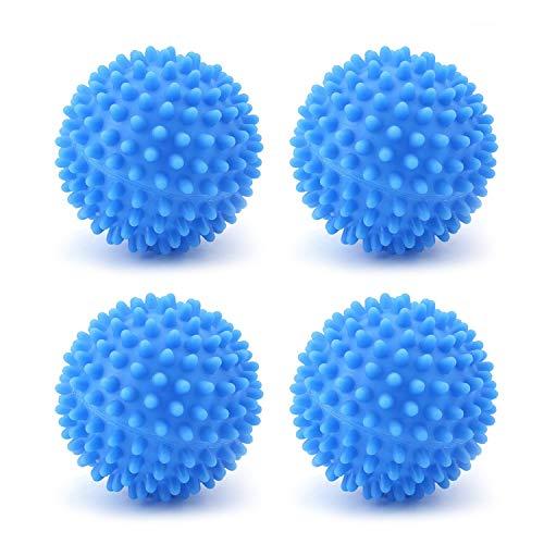 WenderGo Lot de 4 balles de séchage réutilisables pour sèche-linge, boules adoucissantes pour machine à laver
