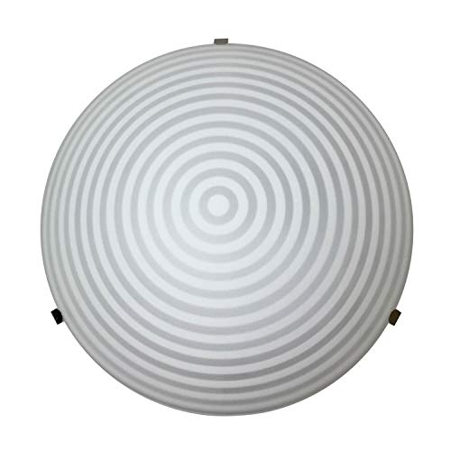 ONLI plafondlamp in wit glas diameter 25 cm met cirkels ontwerp