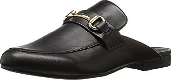Steve Madden Women s Kandi Slip-On Loafer Black Leather 7.5 M US