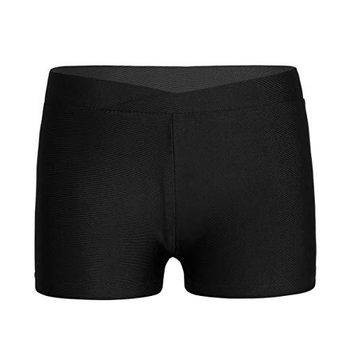 Yeahdor Ropa Deportiva para Niña Pantalones Cortos Deportivos Camuflaje Yoga Running Mallas Leggins Cortos Gym Danza Workout Negro 7-8 años