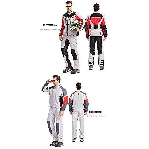 Motorjas Vier seizoenen Universele Jas Motorfiets Waterdicht en Vallen Racing Pak Reflecterende Mannen en Vrouwen Fietsen Jas L Rood