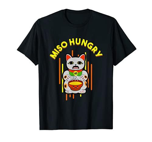 Sopa de miso Miso Hambriento Japonés Sushi Ramen Camiseta