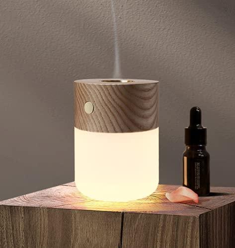 Luz nocturna de aromaterapia anhidra, con modo de calefacción de aromaterapia esmerilado plexiglás sólido pantalla