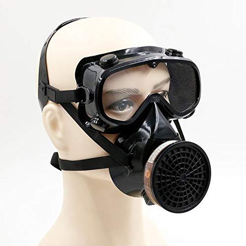 Gasmasker Met Glazen, Oog En Adembescherming Voor Het Schilderen, Stof, Mechanisch Polijsten, Lassen, Waaronder Filter