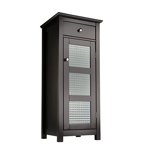 Elegant Home Fashions Chesterfield Collection Floor Cabinet with One Door and...