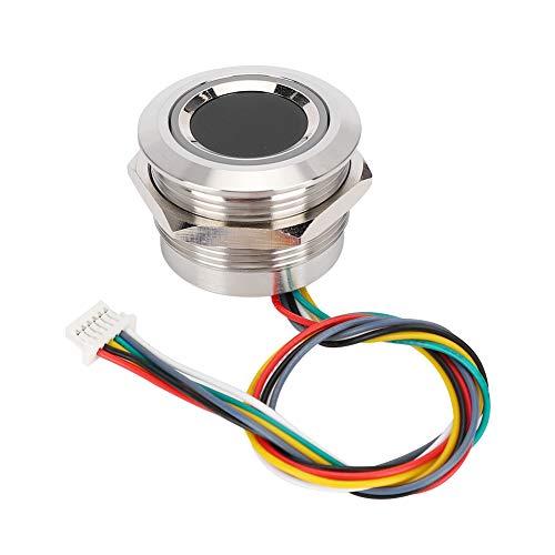 Rehomy Módulo de Identificación Circular Capacitivo de Huellas Dactilares con Luz Indicadora de Anillo de 2 Colores R503