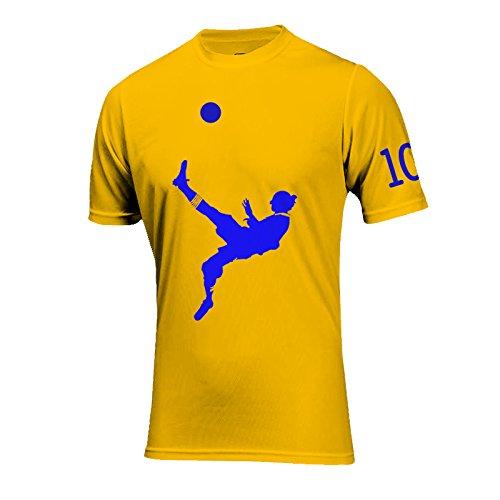 Airosportswear Zlatan Ibrahimovic Bicycle Kick Goal T-Shirt (Yellow)