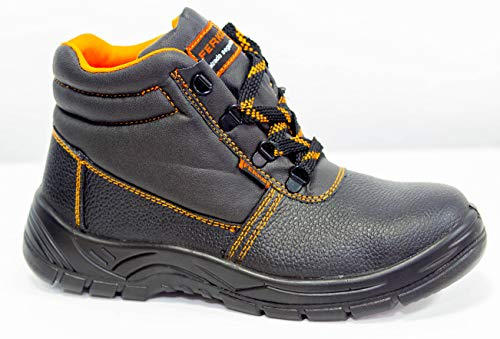 Ferko ZF-60055S/37 leren laarzen S1P SRA zwart teen- en voetbed van staal. Maat 37