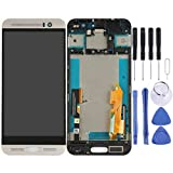 LCD touch screen digitizer Screen Replacement Touch Display LCD Digitizer Assembly With Front Facing Camera Proximity Sensor+Full Repair Tools for HTC One M9+ / M9 Plus(Black) ( Color : Silver )