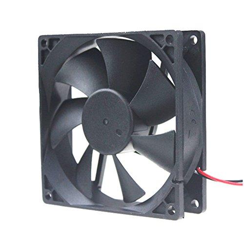 Ronyaoko 92 mm x 92 mm x 25 mm 24 V 0,1 A 9225 Axial Flujo sin escobillas Caso de refrigeración ventilador para PC Ordenador Cooler