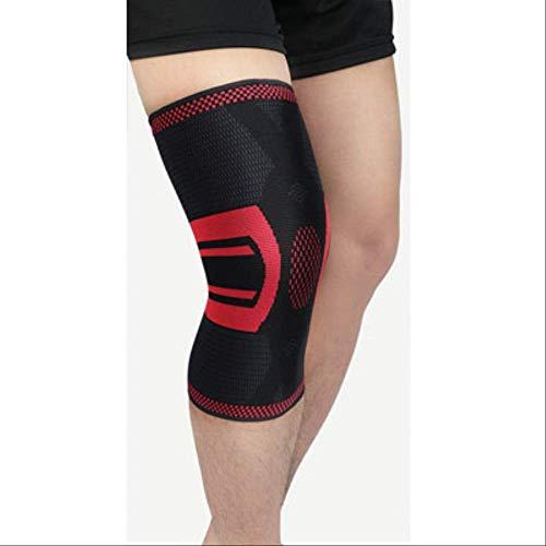 XKEENHUXI 1pc Weaving Fitness Running Ciclismo Rodilleras Brackets de Apoyo Elástico Nylon Sport Compression Knee Pad Manga para Baloncesto XL 058 Rojo