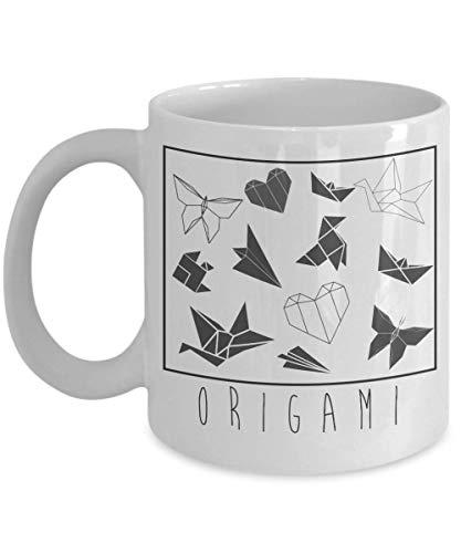 Origami becher liebhaber wie lustige geschenkidee für hobby-süchtige neuheit wortspiel kaffeetasse lustiges origami-geschenk für origami-geschenk