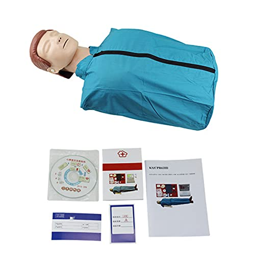 GXGX Simulador cardiopulmonar simulador de reanimación de semicuerpo CPR-Manikin Kit de primeros auxilios modelo de clase de maniquí CPR simple para pedago.