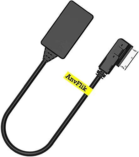 AnvFlik Bluetooth Adapter AMI MDI MMI Audio/Musik Interface Bluetooth 5.0 Adapter nur für Audi (MMI 3G/3G+ System) kompatibel mit Golf Jetta Passat VW