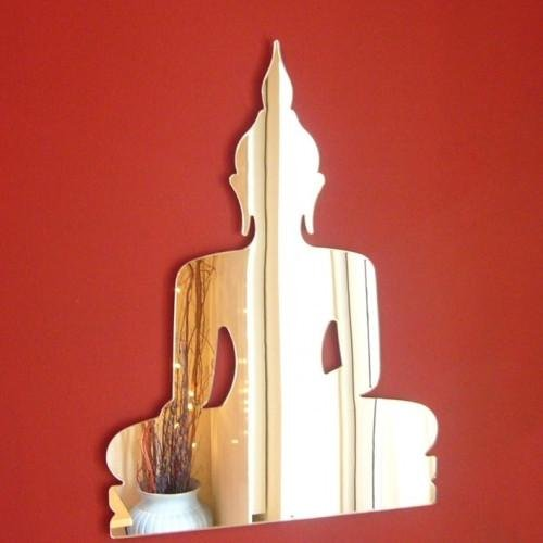 ServeWell décoratifs Mini Bouddha Murale miroirs – Bundle de Dix