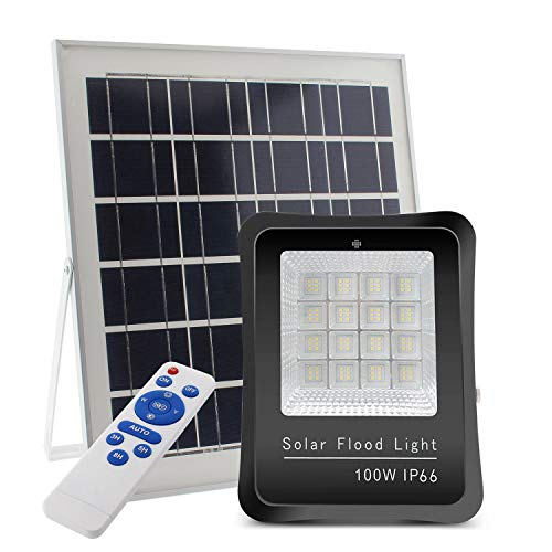 Proyector LED SOLAR KS 100W, Blanco frío