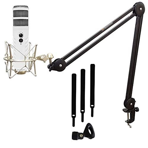 Rode Podcaster MKII - Microfono radio USB + keepdrum MS138 + mandrino per microfono MS088
