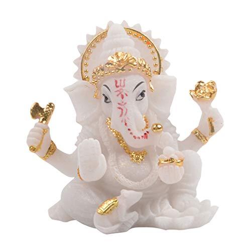 Healifty Resina Ganesh hidu Elefante Estatua Elefante Buda Figura Dios del éxito...