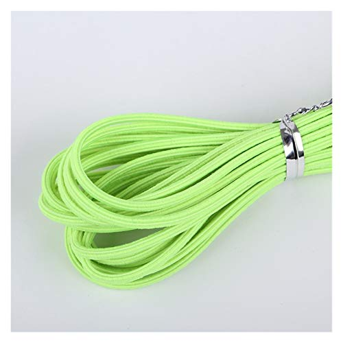 HLWJ 5M/roll Color Straight Grain Elastic Rubber Band DIY Woven Bracelet Material Hair Accessories Handicraft Supplies (Color : Green 2, Size : 5M)