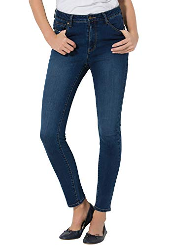 Woman Within Women's Plus Size Perfect Skinny Jean - 12 W, Medium Stonewash Sanded