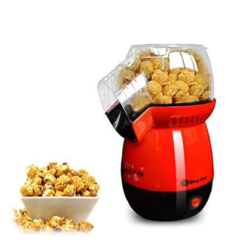 AZCSPFALB Popcorn Maker con Cuchara dosificadora e Capa Antiadherente, 1100W Máquina de Palomitas de Maíz Gourmet para Adultos y Niños,Sin Grasa, Automática Máquina de Palomitas Aire Caliente