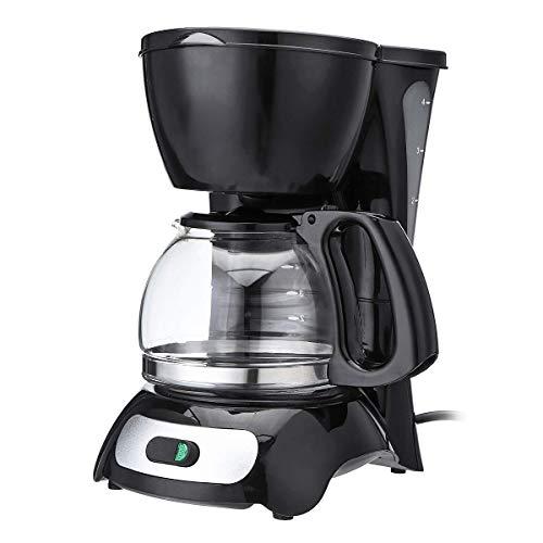 JTAccord Elektrische Kaffeemaschine, mit automatischem Isolationstopf, Kleiner Tropfen, gewerbliche/Private Kaffeemaschine Küche 4-6 Personen 4 Tassen, 650 W 220 V.