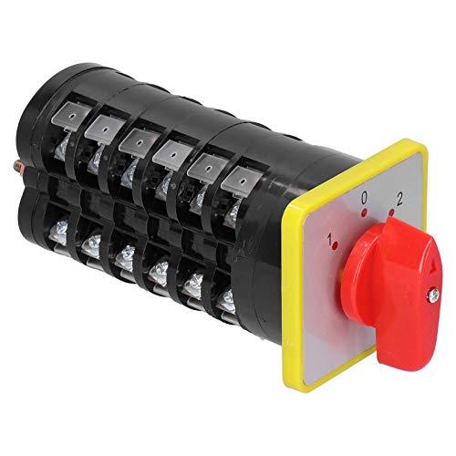 Interruptor de Transferencia Universal LW5D ‑ 16D1689/6   Cambio de Fase Eléctrico Giratorio del Voltaje del Interruptor de Leva de 3 Posiciones 110-380V 16A