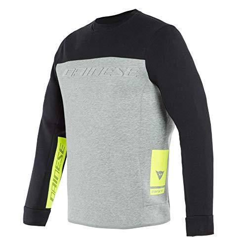 Dainese Contrast Sweatshirt Schwarz/Grau/Gelb L