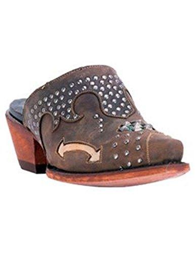 Dan Post Fashion Shoes Womens Modern Studded Clogs 9 M Tan DPP5099