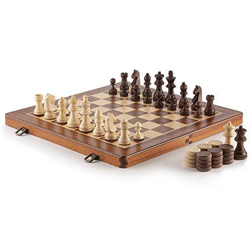 Cifras de ajedrez de Lujo de Madera Piezas Grandes Viajes Viajes Medieval Niños Profesional DISEÑO DISEÑO Juegos Juegos Piezas DE Ajuste (Color : 3.0inch No Board)